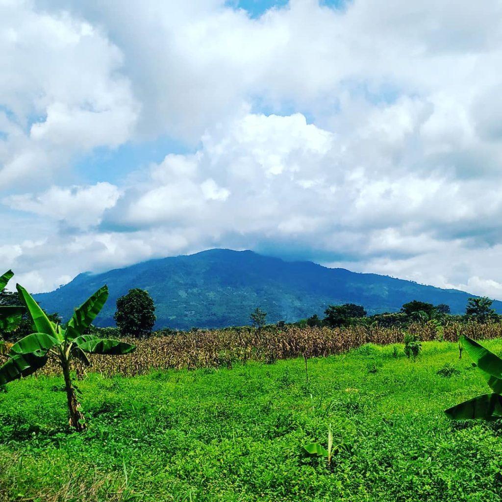 magnifique paysage mont agou region plateaux togo